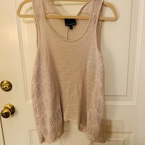 Cynthia Rowley oatmeal colored tank